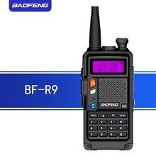 Baofeng BF R9 8 w alta potência uhf/vhf banda dupla 10 km de longa distância walkie talkie 3800 mah bateria handheld rádio comunicador bfr9