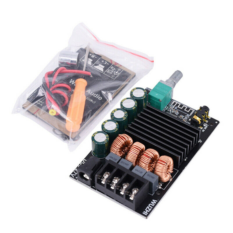 For DIY Speakers 1PC Bluetooth Digital Stereo Amplifier Board Audio W/ Switch Amp Module Filter TPA3116 Support FLAC/APE/MP3/WMA
