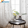 Белые тюлевые занавески с цветочной вышивкой для гостиной  для девочек  пасторальные Оконные Занавески для спальни  занавески на заказ