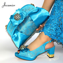 Hot Sale Italian Design Shoes and Bag to Match High Quality Nigerian Party Women Shoes And Bag Set Size 38-43 To Available T73(China)