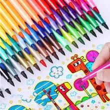 Crianças pintura 36/24/18/12 não-tóxico água cor lápis lavável aquarela caneta marca pintura para crianças desenho arte suprimentos
