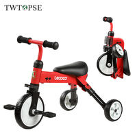 TWTOPSE Cycling Foldable Kid Bike Tricycle Child Scooters 2 IN 1 Boy Girl Baby Bike Bicycle Kick Foot Scooters 3.5KG Lightweight