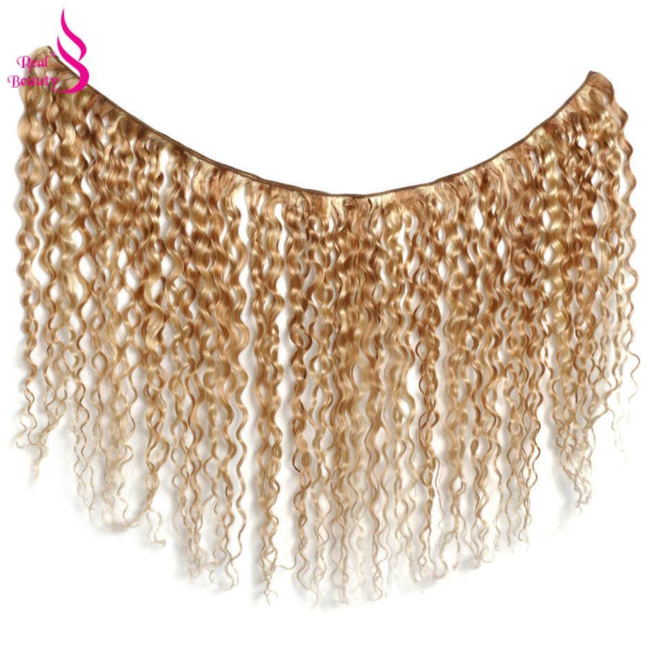 Real beauty włosy brazylijskie ombre Water Wave P27/613 w dwóch odcieniach doczepy z ludzkich włosów wyplata wiązki Auburn 1 PC Remy włosy darmowa wysyłka