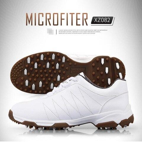 Sapatos de Golfe Sapatos à Prova Sapatos de Malha Tênis para Mulher Botões Fivela Sapatos Rendas-ups Dwaterproof Água Esportes Forro Respirável Anti-derrapante Pgm