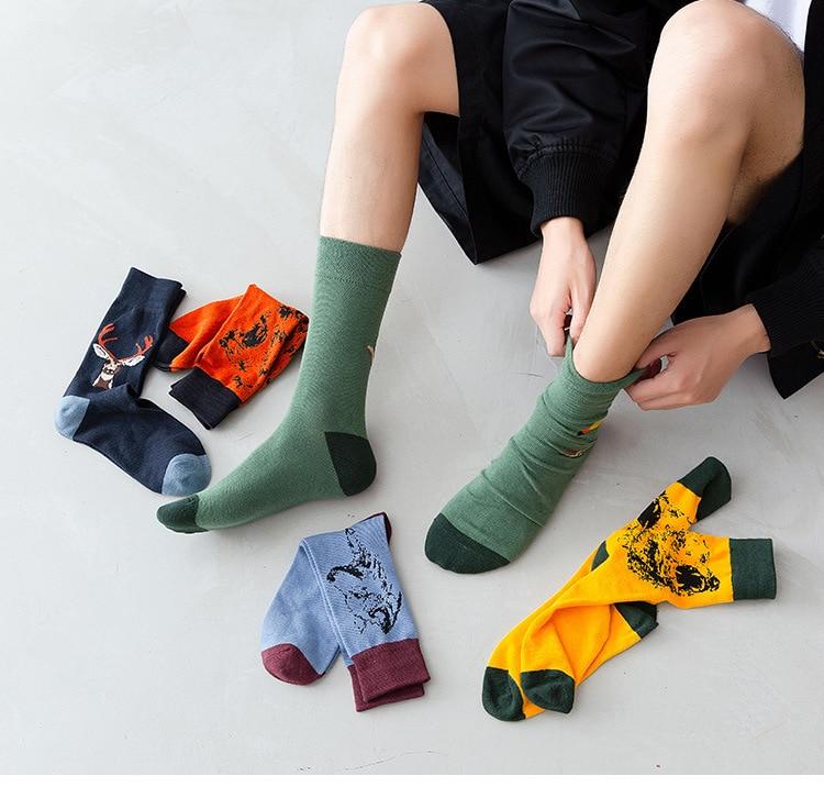 Wolf Men Socks  Men socks Animal Socks Cotton socks