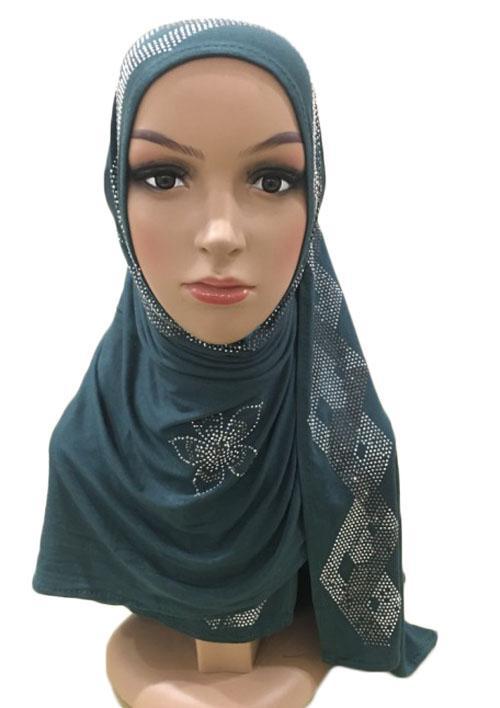 Women/'s Muslim Islamic Long Hijab Scarf Shawls Head Wrap Cotton Ladies Scarves