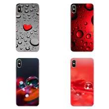 Soft Cover Case Red Drops Wallpaper For Xiaomi Redmi Mi 4 7A 9T K20 CC9 CC9e Note 7 8 9 Y3 SE Pro Prime Go Play(China)