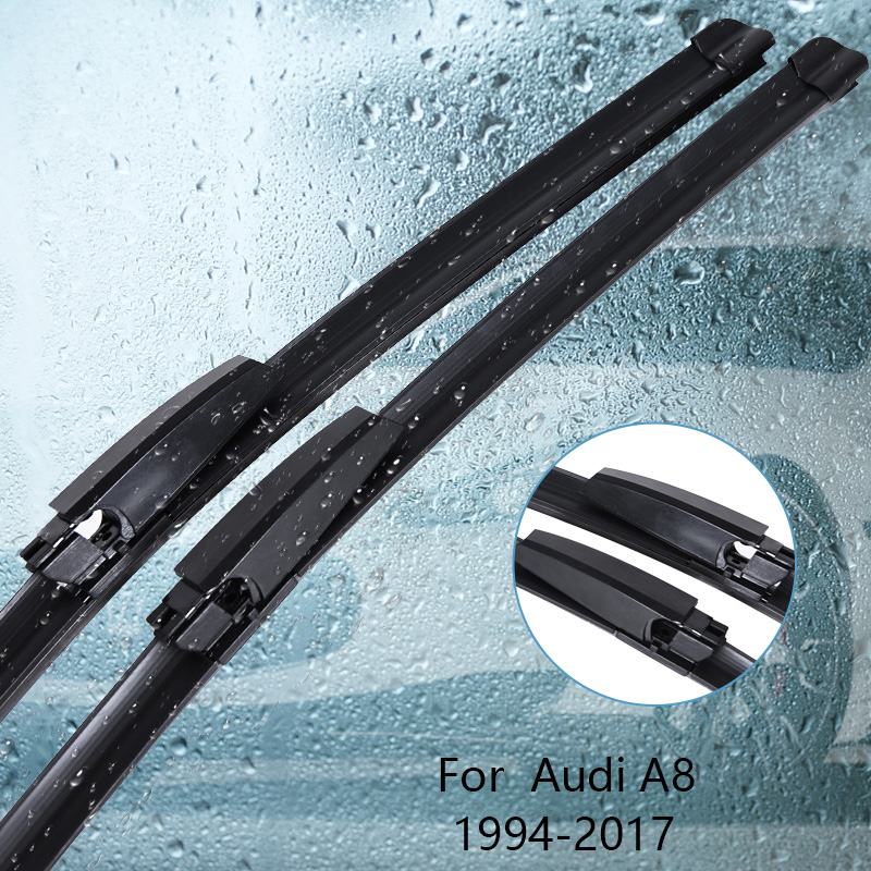 Wipers Blade For <font><b>Audi</b></font> <font><b>A8</b></font> <font><b>D2</b></font> / D3 / D4 1994 1995 1996 1997 1998 1999 2000-2017 Car Accessories For Auto Rubber Windscreen Wiper image