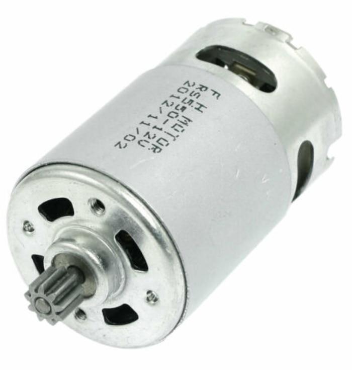 Motor de broca elétrico 12 v-18 v 9/12 dentes rs550 para a chave de fenda sem fio da broca de gsr