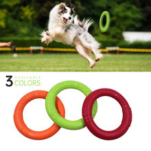 Pet Flying Discs EVA Dog Training Ring Puller Resistant Bite Floating Toy Puppy Outdoor Interactive Game Playing Products Supply(China)