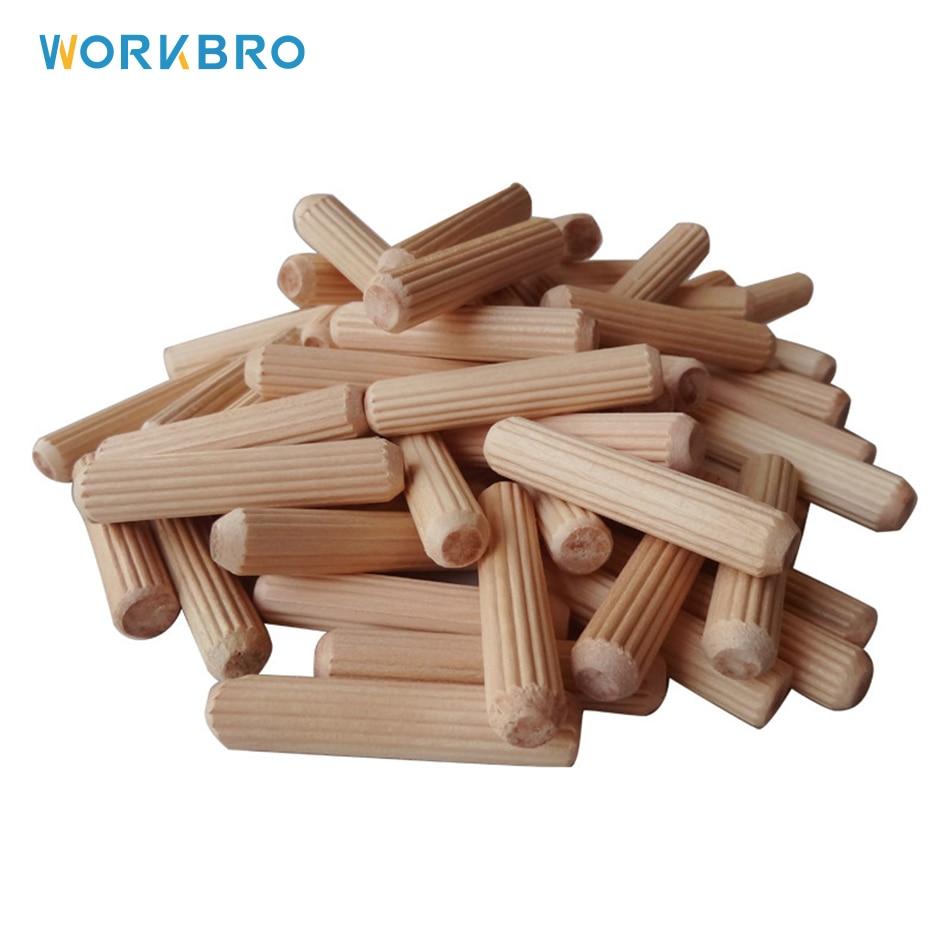 Круглый деревянный дюбель, 100 шт., M6/M8, Круглый Деревянный стопор, инструмент для подключения дерева к дереву, подходит для подключения мебел...