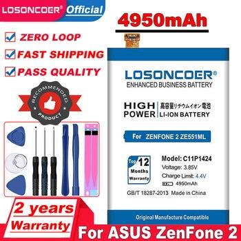 Batería C11P1424 de 4950mAh para ASUS ZenFone 2 ZE550ML ZE551ML Z00ADA Z00ADB Z008DB, herramientas libres de batería