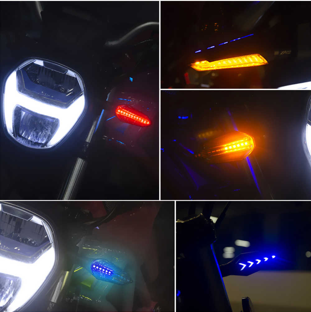 Cho Yamaha Tw200 Suzuki Gsx600f Honda St1300 Ducati Multistrada 950 KAWASAKI ZX10R Cao Cấp Xe Máy LED Nhan
