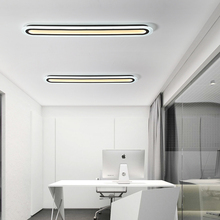 Strip Acrylic LED ceiling light Home Living Room Bedroom Study Room Ceiling lamp Office Commercial Lighting cheap CUOSHE ROHS CN(Origin) 20 15-30square meters House Commercial Lighting 90-260V Wedge Ironware + Acrylic Knob switch
