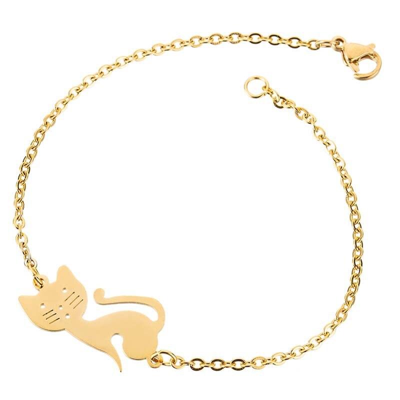 Originally Designed Cute Cat Bracelet Stainless Steel Cat Bracelet Accessories