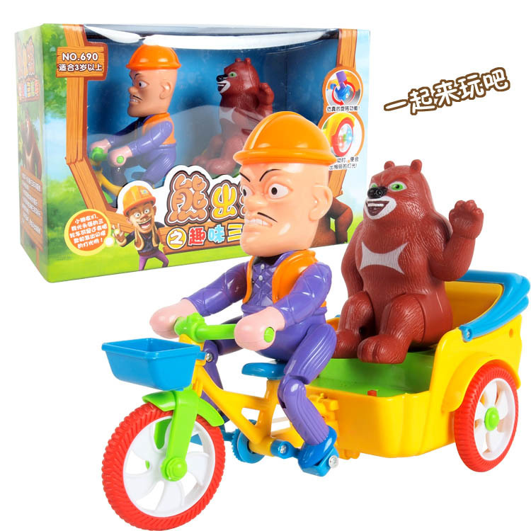 New Style Creative Children Model Car Electric Toy Car Shining Sounding Toys Three-Wheeled Car Stall