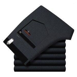 Image 1 - กางเกงทำงานชายชุดด้านล่างชุดลำลองตรงธุรกิจคลาสสิกกางเกงอย่างเป็นทางการขนาดใหญ่กางเกงชายสูงเอวกางเกง