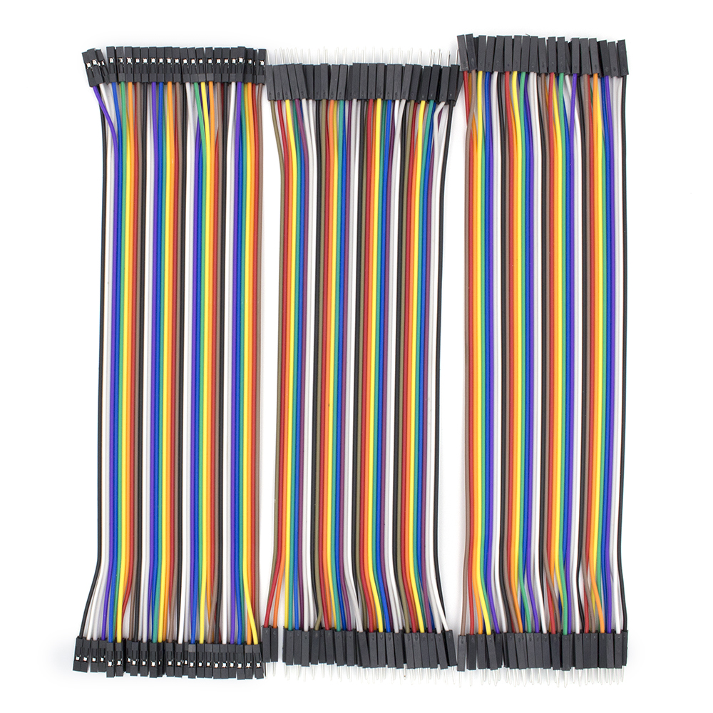 2.54mm Dupont Line 20cm 10cm 40Pin Male To Male+Female To Male + Female To Female Jumper Wire Dupont Cable DIY KIT
