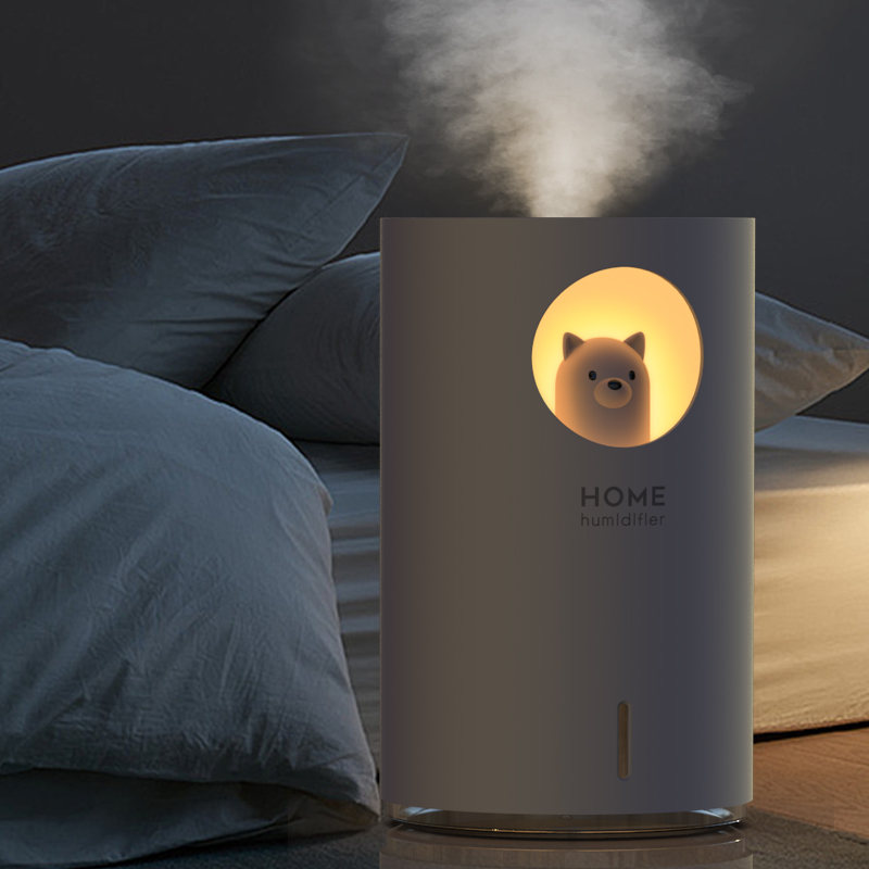 USB Air Humidifier Mini Aroma Essential Oil Diffuser Cool Mist Maker Fogger Air Purifier For Home With Led Night Lights
