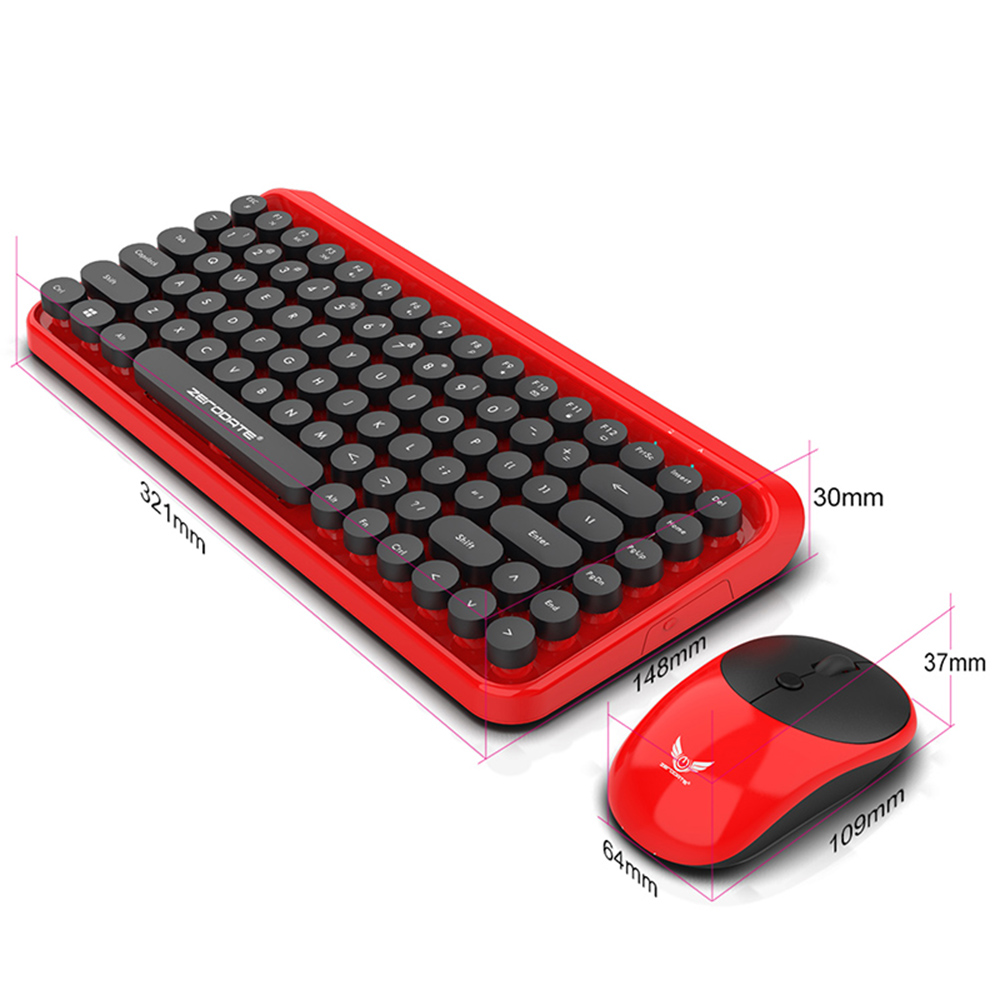 2 4G Wireless 84 keys Keyboard Mouse Set 12 Kinds Multimedia Shortcuts keyboard With Adjustable 1600dpi Mice Micro receiver in Keyboard Mouse Combos from Computer Office