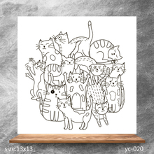 ZhuoAng Mischievous cat Clear Stamps/Silicone Transparent Seals for DIY scrapbooking photo album Stamps
