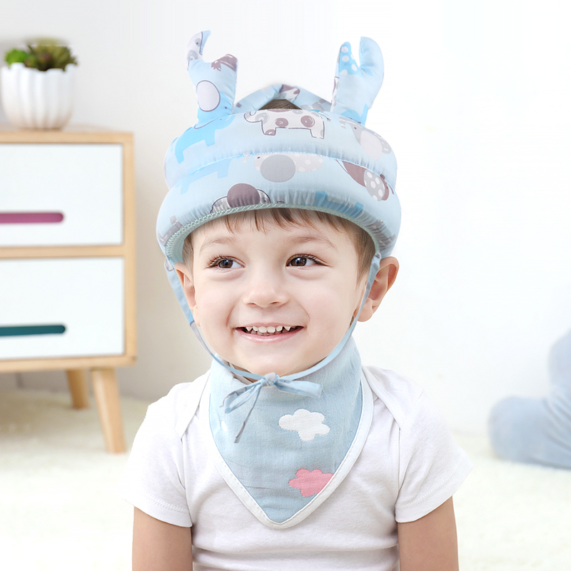 Baby Cartoon Shatter-resistant Head Protection Cap Toddler Breathable Sponge Anti-hit  Comfort Safety Helmet