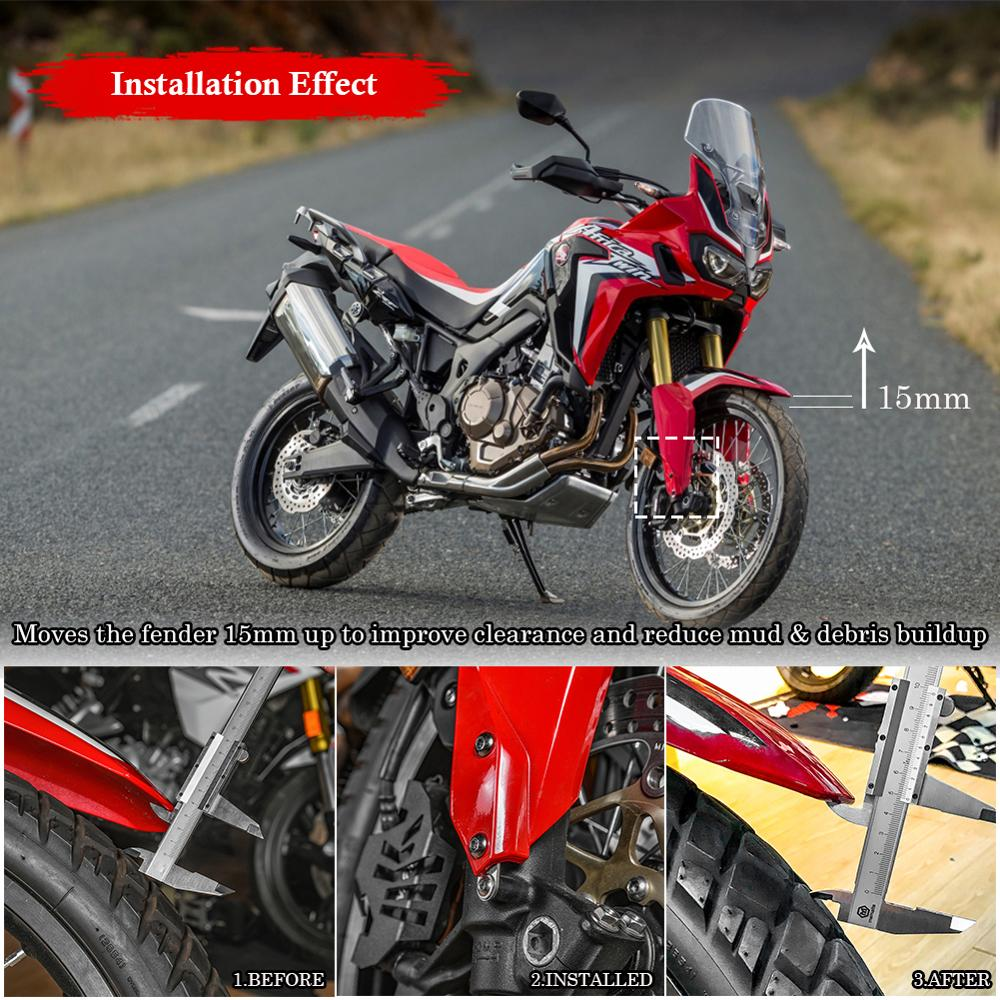 Stainless Steel Motorcycle Front Fender Mudguard Riser Kit for 2016 2017 2018 Honda CRF1000L Africa Twin