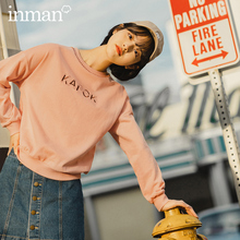 INMAN 2020 Spring New Arrival Personality Fashion Sport Letter Embroidered Youth Vitality Sweatshirt