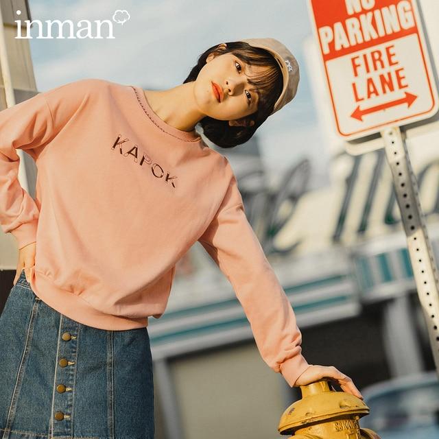 Inman 2020 Voorjaar Nieuwe Aankomst Persoonlijkheid Mode Sport Brief Geborduurde Jeugd Vitaliteit Sweatshirt