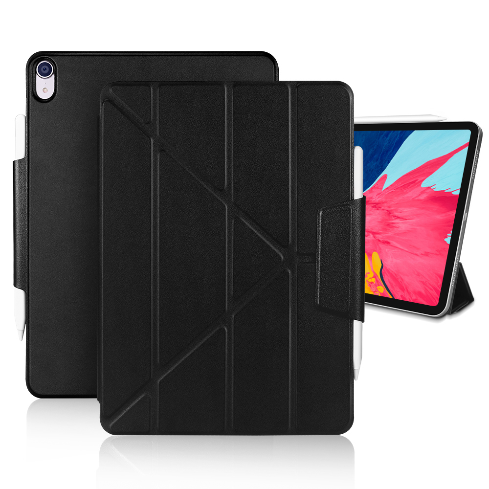 Купить с кэшбэком Smart Magnetic Case For iPad Pro 12.9 11 2018, PU Leather with Pencil Holder Flip Stand Cover For iPad Pro 2020 12.9 11 inch