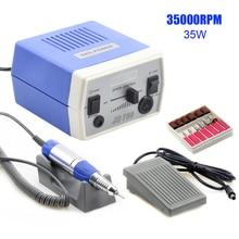 35W 35000RPM JD700 Pro Electric Nail Drill Machine Equipment Manicure Pedicure Files Nail Art Drill Pen Machine Set Tools