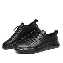 Nuevos hombres zapatos casuales para hombre zapatillas de cuero de gran tamaño
