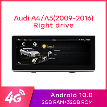 "MCWAUTO for Audi A4/A5 2009-2016 10.25"" Car Right Drive Radio Android10.0 GPS Navigation 4G WiFi BT Mirrorlink 2G RAM 32G ROM image"