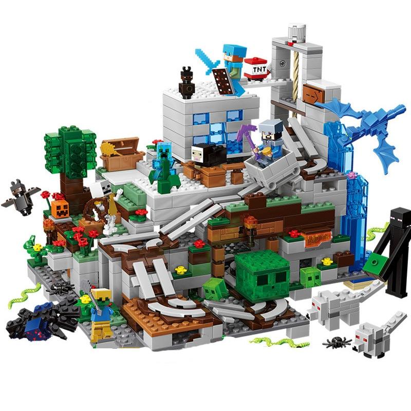 Конструктор «Горная пещера» с фигурками героев мультфильма «майнкрафт», 21137