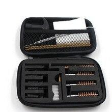 16 pcs Universal Pistol Gun Cleaning Kit Barrel Brushes Tools for most caliber handguns 22 357 38 40 44 45 9mm Gun Cleaning set