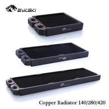 Bykski B-RD140-TN/B-RD280-TN/B-RD420-TN Radiator miedziany cienki rząd chłodzenia wodą dla 14CM wentylator PC Cooler Radiator 140/280/420MM