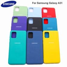 Чехол для Samsung Galaxy A31 из жидкого силикона, мягкий шелковистый чехол для Galaxy A 31, высококачественный мягкий на ощупь защитный чехол