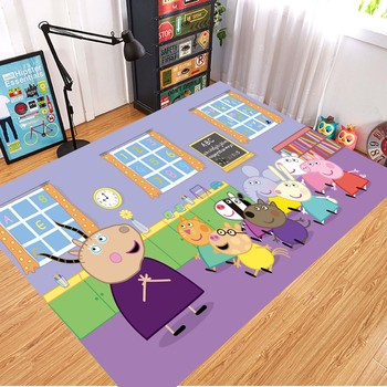 Peppa Pig Anti-slip Flannel Mat Peppa Door Mat Kid Room 3D Cartoon Floor Mat Washable Kitchen Bathroom Carpet Christmas Gift 8