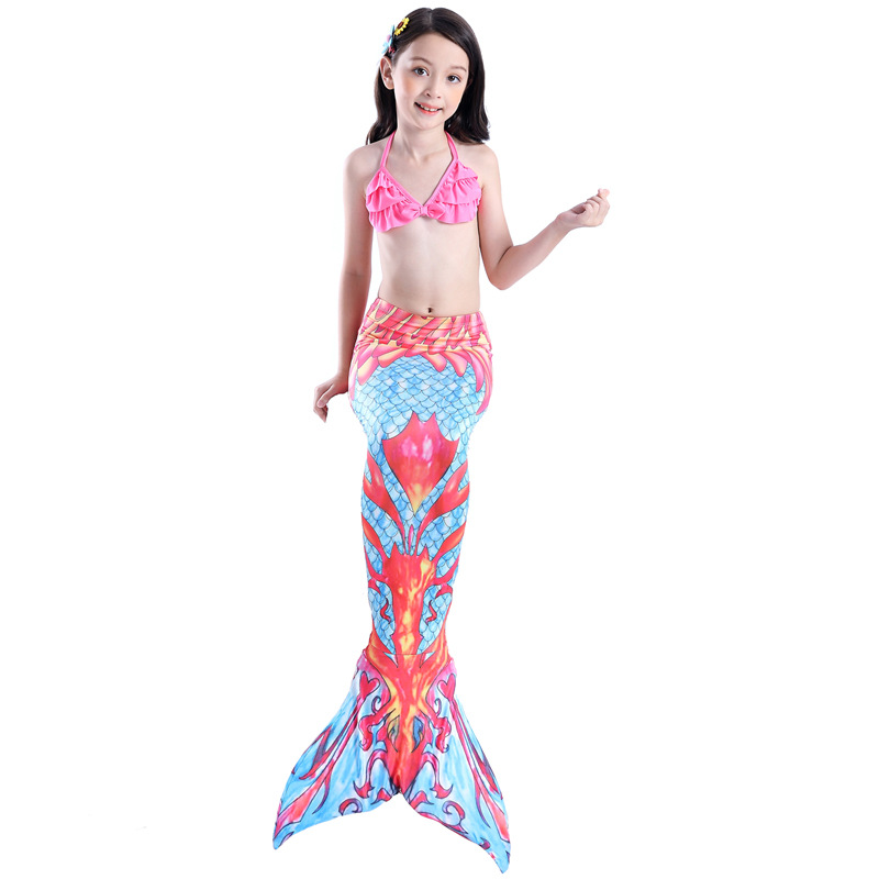 Mermaid Swimsuit Children Mermaid Tail Tour Bathing Suit Mermaid Clothing COS Mermaid Can Be Installed Swim Fins