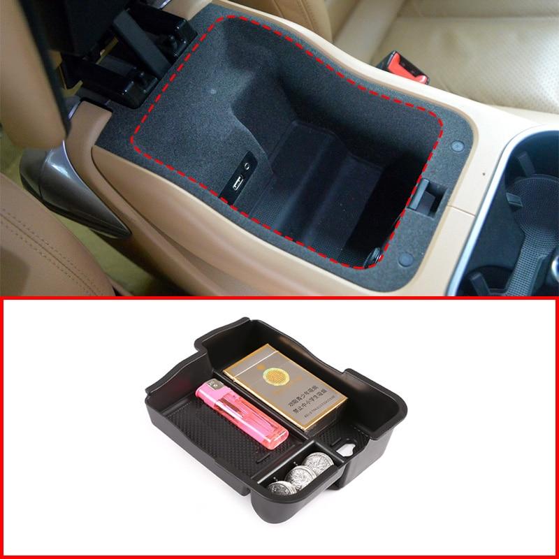 Black ABS Car Interior Center Console Armrest Storage Box  For Porsche Cayenne 2011-2020 Accessories