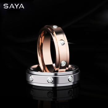 Men Rings, 6mm Width Tungsten Carbide Rings with Three PCS for Womens Wedding, Customized, Free Shipping