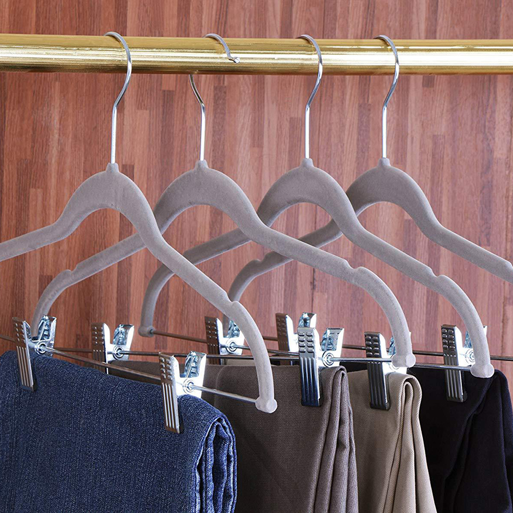 5Pcs Velvet Children Clothes Hangers Premium Heavy Duty NonSlip Racker Organizer