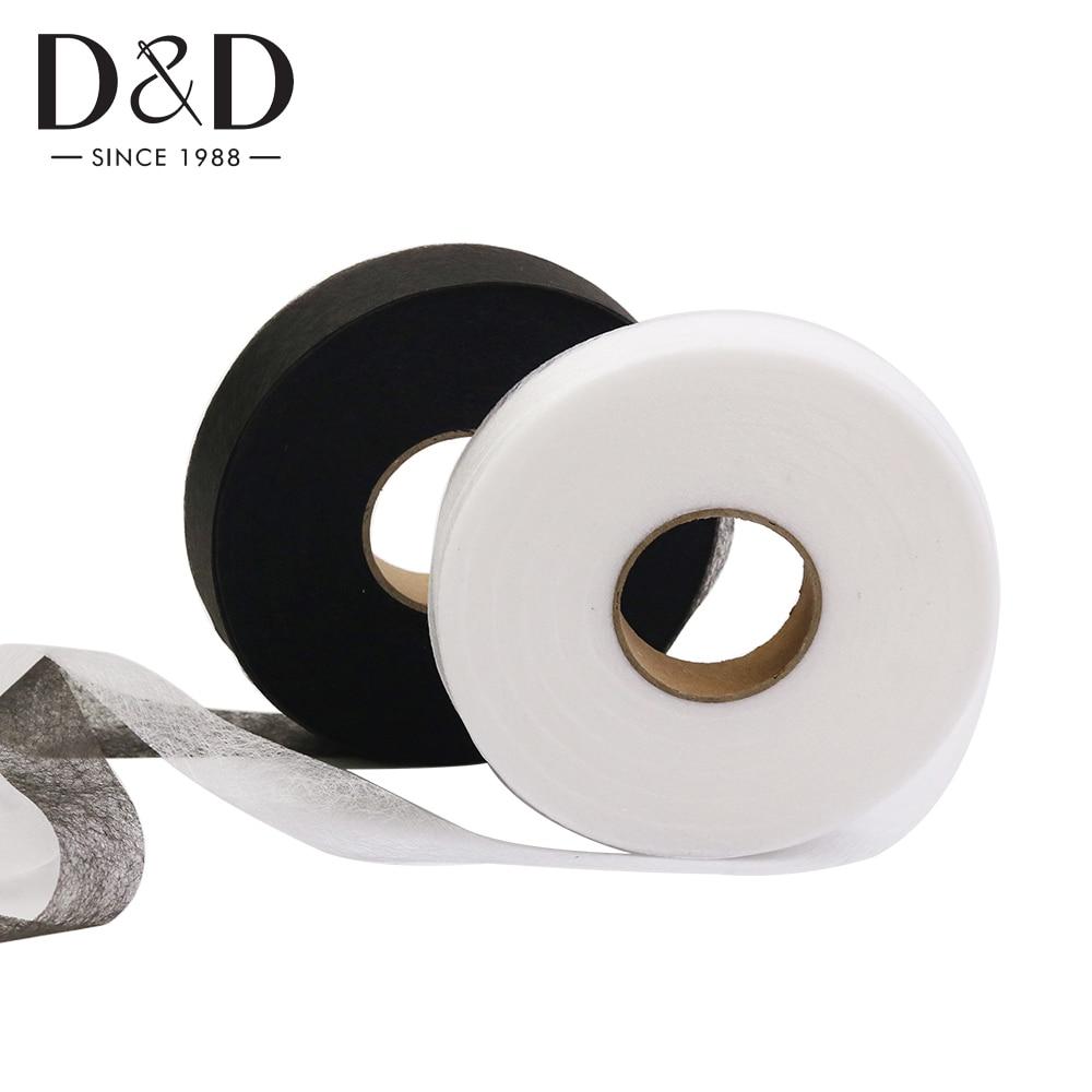 Dobladillado cinta 2 Rollo Wonder web no Coser Telas De Hierro Fuerte Cinta Métrica Pines Kit.