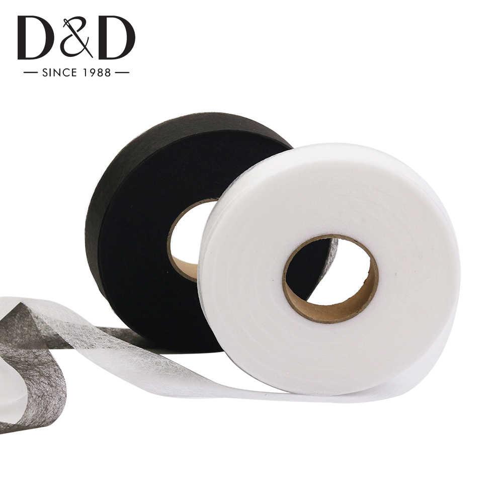 Nuevo Ropa de hierro en cinta adhesiva de tela Dobladillo web Entretela Rollo De Costura