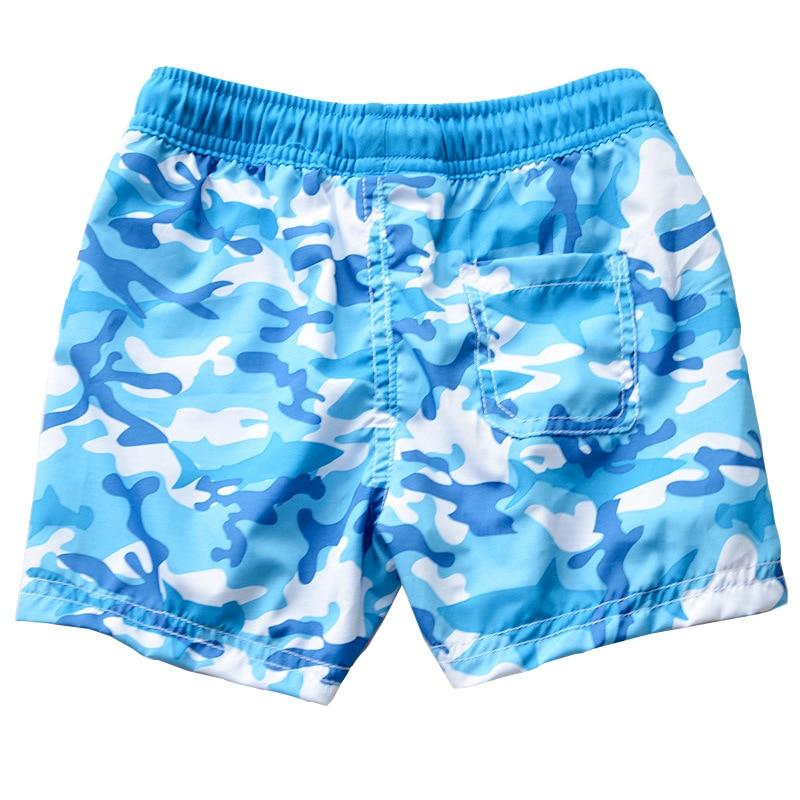 2020 New Style KID'S Swimwear Big Boy Blue Small Camouflage Lace-up Cute Boy Beach Shorts Swimming Trunks