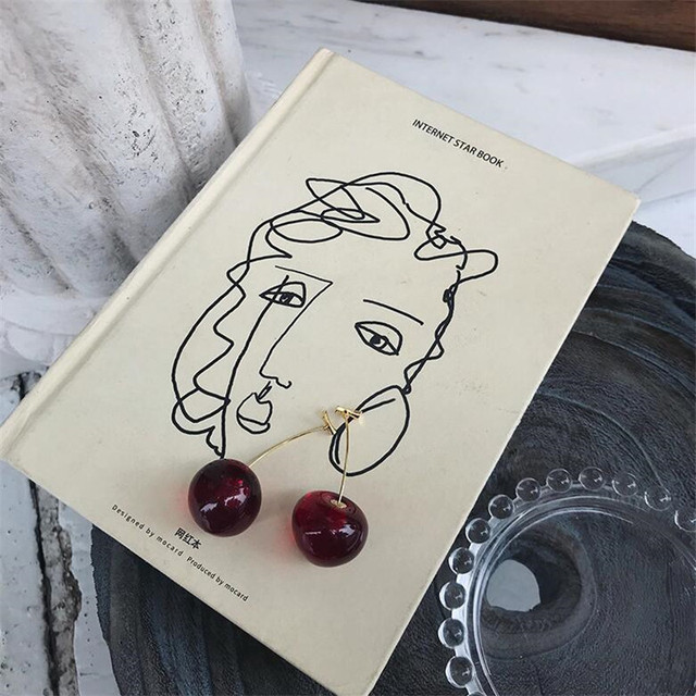 2020 New European and American Fruit Fashion Long Ear Nail Temperament Cherry Cherry Earrings Lady Earrings.jpg 640x640 - 2020 New European and American Fruit Fashion Long Ear Nail Temperament Cherry Cherry Earrings Lady Earrings