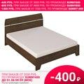 Кровать Донна 111 (08 Дуб темный, ЛДСП, 08 Дуб темный, 1800х2000 мм) Стайлинг