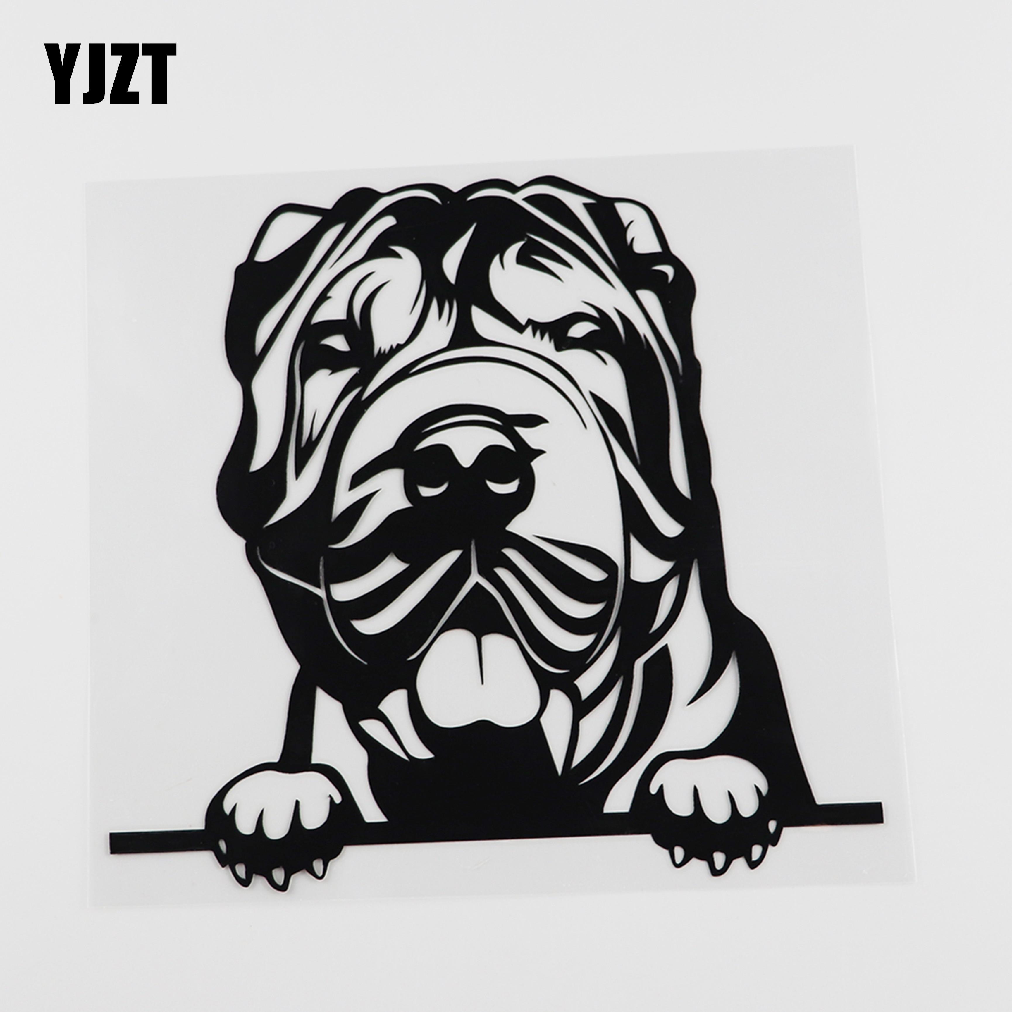 Стикер для автомобиля YJZT, 17,5 см х 15,9 см, шар пей, наклейка с собакой, винил, черный/серебристый, 8A-0046