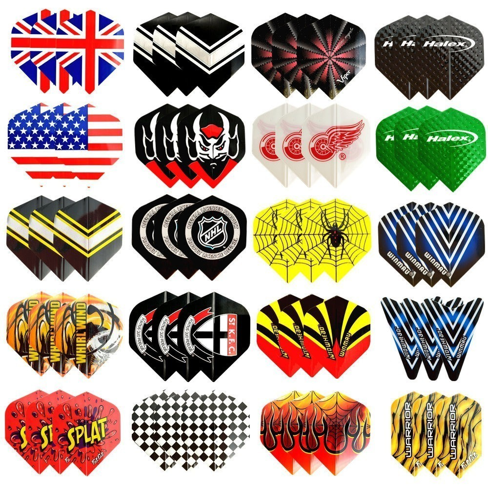 60/48/30/12pcs Cool Standard Dart Flights Nice Darts Flight Dardos Feather Outdoor Wing Tail Mixed Pattern