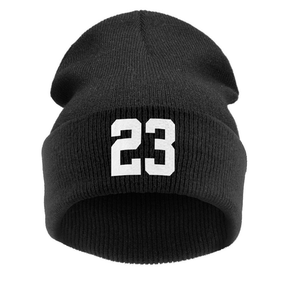 1pc Hat High Quality 23 Sports Very Cold Casual Beanies For Men Women Fashion Knitted Winter Hat Hip-hop Skullies Hat